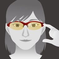 woman with smart glasses Wearable device illustration