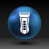 Hairclipper illustration accessory appliance barber beauty icon N4