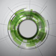Abstract Modern technology circles vector background N12