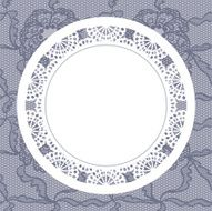 Elegant doily on lace gentle background N6