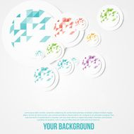 Vector abstract circles template Object web N11