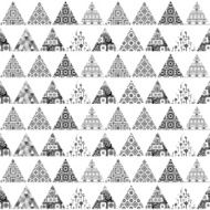 Seamless pattern of triangular patches with different patterns