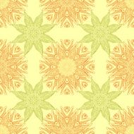 Seamless pattern abstract symmetrical decorative elements in a gentle colors