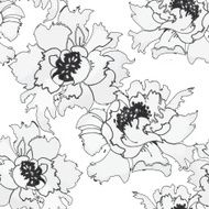 Watercolor hand drawn colorful flowers seamless pattern