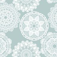 Lace white seamless mesh pattern N15