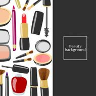 Beauty product vertical background with copyspace