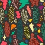Boho seamless pattern vintage colorful background