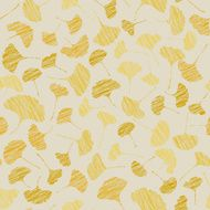 Autumn texture with scraped ginkgo leaves Seamless pattern