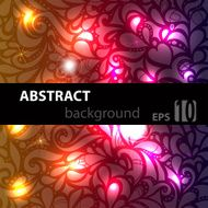 Abstract disco glowing pattern on background Vector illustration N2