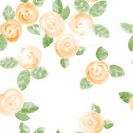 hand drawn watercolor flowers seamless pattern