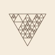 Hipster triangle linear background