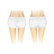 Vector White Shorts for Women Isolated on Background N4