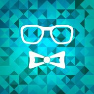 Triangle retro hipster background N2