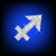 Zodiac Sagittarius sign icon