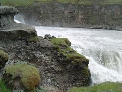 landscape of iceland waterfall in nature
