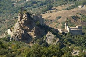 medieval castle of roccascalegna