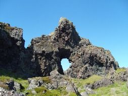 lava rock in Iceland on a hill