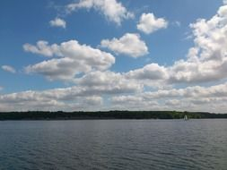 a scenic view of the lake Wannsee