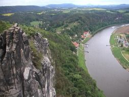 panorama of saxony on elbe
