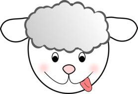Beautiful and colorful drawing of the sheep clipart