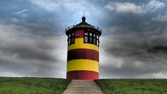 east frisia north sea coast lighthouse