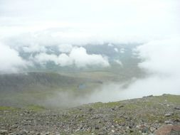 panorama on the beautiful valley in the clouds