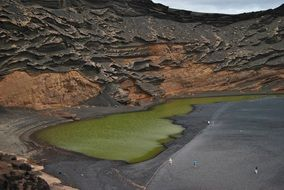 green lake in lanzarote