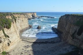 Cliffs ocean beach landscape