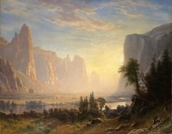 albert bierstadt landscape drawing