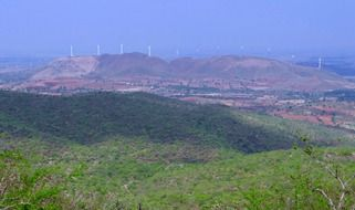 distant view of the hills of Chitradurga