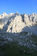 panoramic view of the Kaiser mountains