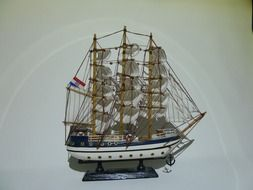 model of a sailing boat