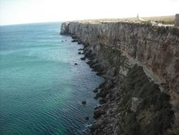 view from above on a rocky coast in Portugal