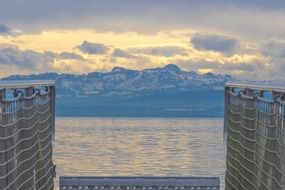 wooden jetty on Lake Constance in Germany
