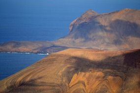 scenic mountains on the shore of the ocean in the Canary Islands