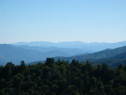 smoky mountains tennessee landscape