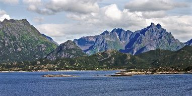 mountains in lofoten