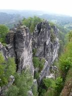 top view of a sandstone mountain in Saxon Switzerland