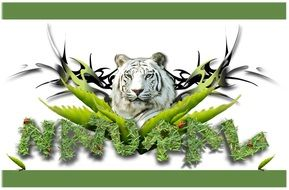 logo with a white tiger