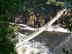 suspension bridge in tsitsikamma top view