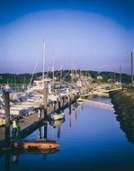 panoramic view of the harbor in Cape Cod