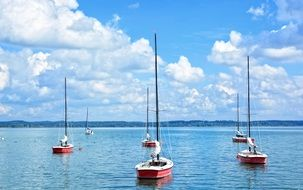 sailing boats on blue water