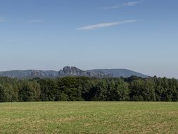 Elbe sandstone mountains in Saxony
