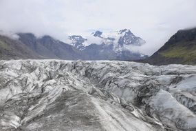 mountain glacier in iceland
