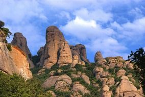 Landscape of the sandstone mountains