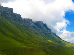 lesotho mountains scenic green