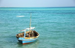 fishing boat in the ocean