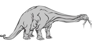 drawing of a ancient dinosaur