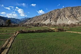 countryside in mountains in Afghanistan