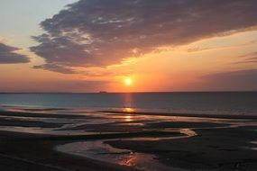 normandy beach sunset